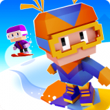 像素方块滑雪
